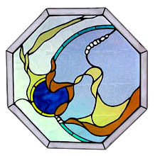 Stained Glass Magic Abstract Window